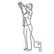 Schouder fitness oefening - voorwaards kabel heffen - thumb