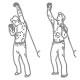 Schouder fitness oefening - wisselend kabel oefeningen - thumb