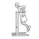 Triceps fitness oefeningen - dippen op dipstreun - thumb