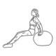 Triceps fitness oefeningen - dippen op zwitserse bal - thumb