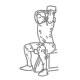 Triceps fitness oefeningen - triceps strekken enkele dumbbell - thumb