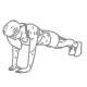 Troceps oefening lichaamsgewicht - Opdrukken met handen bijelkaar - thumb