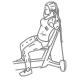 fitness oefeningen schouders - zittend kabel opduwen - thumb