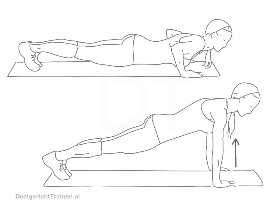 Bodyweight oefeningen borst - opdrukken uitleg en tips - afbeelding