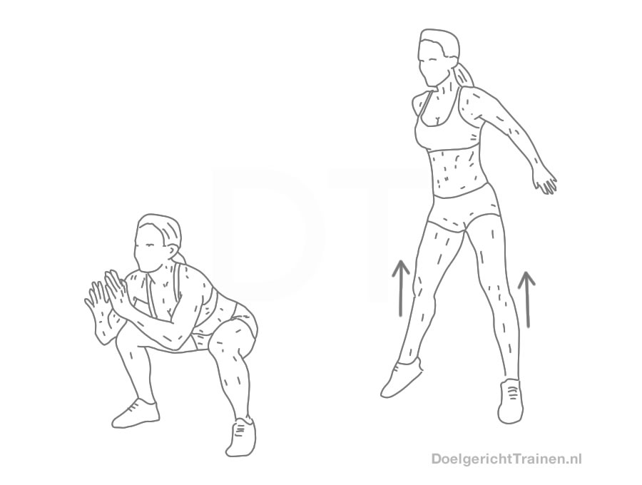 Bodyweight oefeningen benen - sprong squat utileg en tips