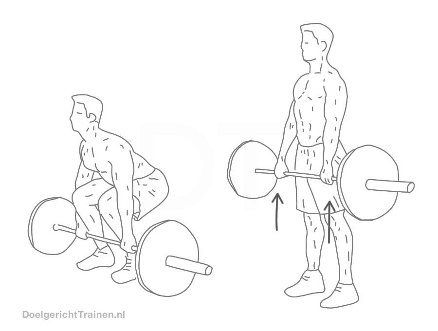 krachttraining Fitness oefeningen - deadlift uitleg en tips