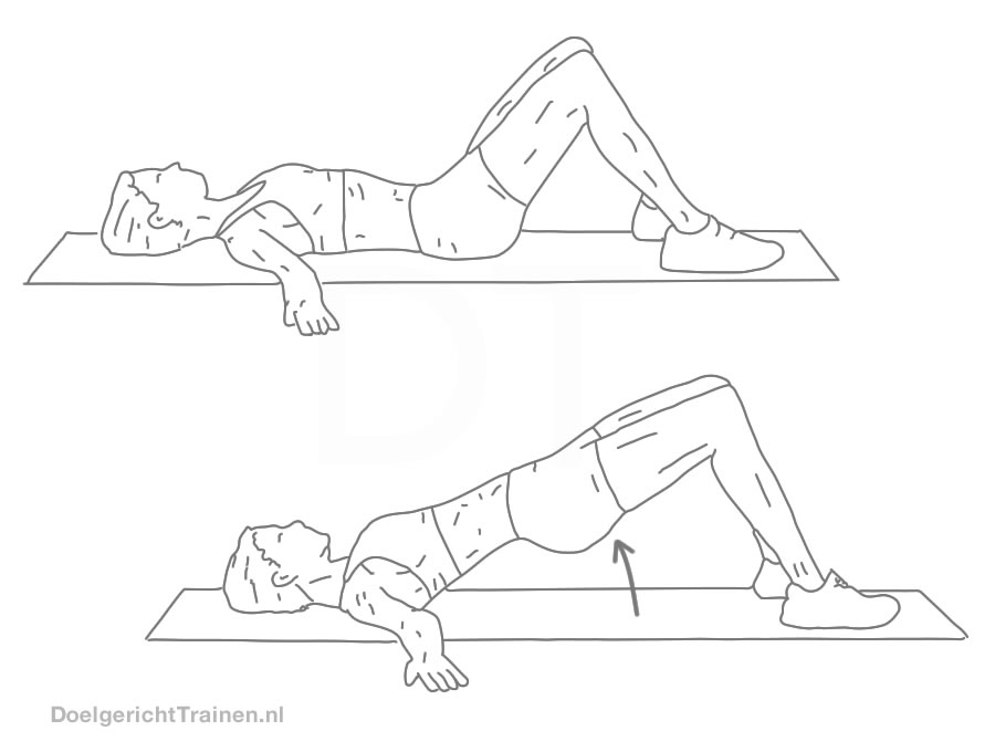Bodyweight oefeningen core stabiliteit - bruggen - afbeelding