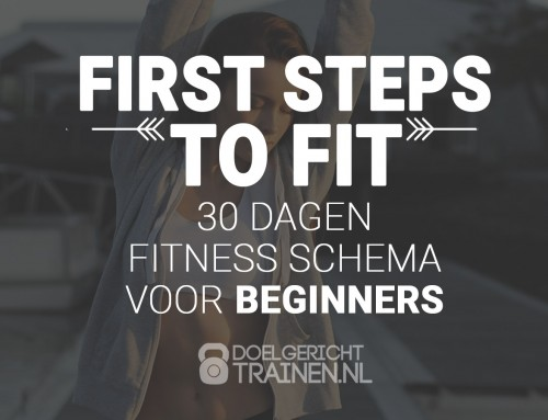 First steps to fit – fitness schema voor beginners
