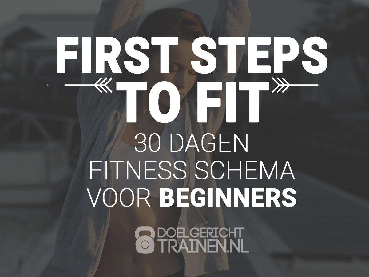 First steps to fit - fitness schema voor beginners - afbeelding